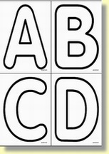 alphabet cursives majuscules planche de lettres dcouper 1 document 83 ko