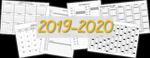 Calendrier Scolaire 2019 2020 Excel.Divers