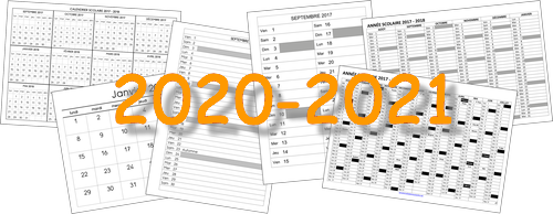 Calendrier 2021 Maternelle Divers