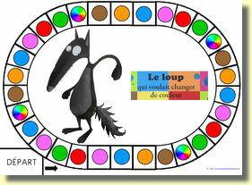 Coloriage Code Le Loup Qui Voulait Changer De Couleur.Le Loup Qui Voulait Changer De Couleur Contines